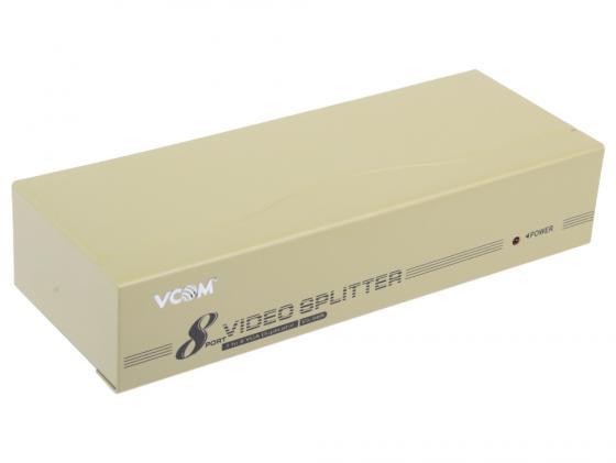 Разветвитель VGA 1 to 8 VCOM Telecom VS-98A Vpro mod:DD128 350MHz <VDS8017> кабель переходник 0 2м vcom telecom mini displayport vga vhd6070