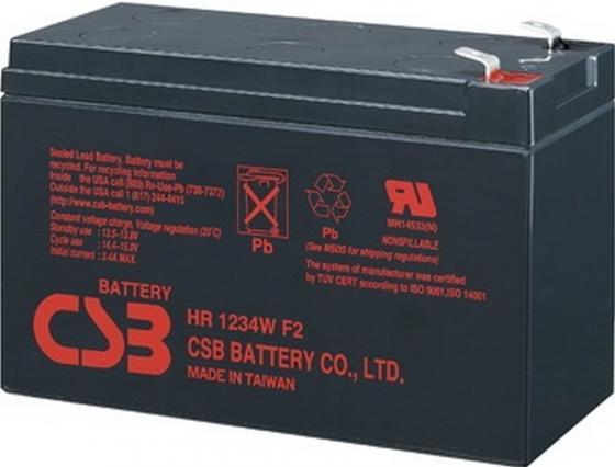 Батарея CSB HR1234W F2 12V/9AH батарея csb hrl634w f2 6v 9ah