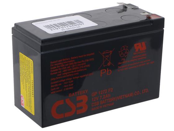 Батарея CSB GP1272 F2 12V/7.2AH аккумулятор csb gp1272 28w 12v7ah f2