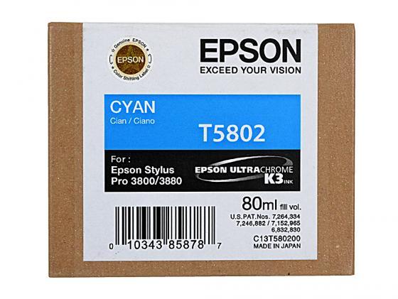 Картридж Epson C13T580200 для Epson Stylus Pro 3800 Cyan картридж epson t009402 для epson st photo 900 1270 1290 color 2 pack