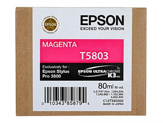 Картридж Epson C13T580300 для Stylus Pro 3800 Magenta пурпурный картридж epson t009402 для epson st photo 900 1270 1290 color 2 pack