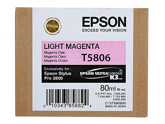 Картридж Epson C13T580600 для Epson Stylus Pro 3800 светлый пурпурный картридж epson c13t580300 для stylus pro 3800 magenta пурпурный