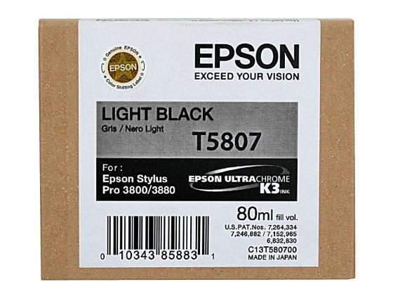 Картридж Epson C13T580700 для Epson Stylus Pro 3800 светло-черный free shipping 5pcs in stock tda3681ath