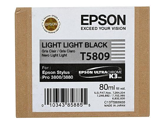 Картридж Epson C13T580900 для Epson Stylus Pro 3800 светло светло-черный картридж epson t009402 для epson st photo 900 1270 1290 color 2 pack