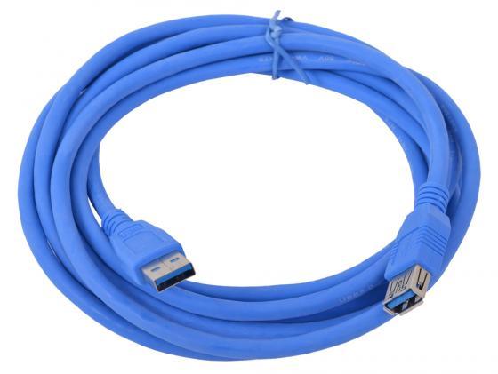 Кабель удлинительный USB 3.0 AM-AF 3.0м Gembird CCP-USB3.0-AMAF-10 синий