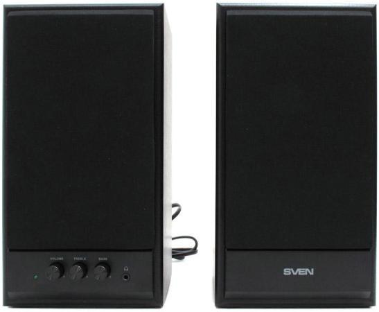 Колонки Sven SPS-702 2х20 Вт черный цена
