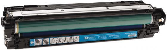 Фото - Картридж HP CE741A для Color LaserJet CM5225 7300стр голубой кромка marbet трикотаж хлопок 42 х 6 см цвет бежевый 006