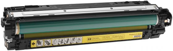 Картридж HP CE742A для Color LaserJet CM5225 7300стр желтый тонер картридж hp ce743a пурпурный для hp clj cp5225 7300стр