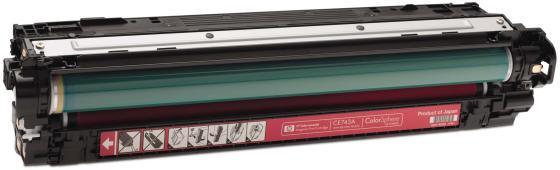 Фото - Картридж HP CE743A для Color LaserJet CM5225 7300стр пурпурный кромка marbet трикотаж хлопок 42 х 6 см цвет бежевый 006