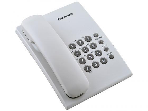 Купить со скидкой Телефон Panasonic KX-TS2350RUW белый