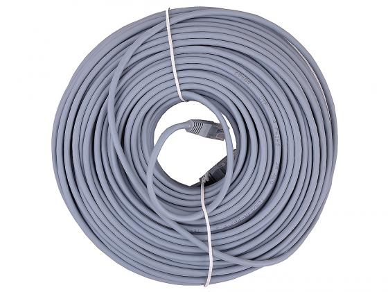 Патч-корд UTP 5e категории 50м серый CCA PVC