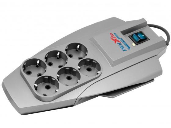Сетевой фильтр ZIS Pilot X-Pro 6 розеток 7 м серый цены онлайн