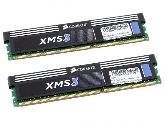 цены Оперативная память 8Gb (2x4Gb) PC3-10666 1333MHz DDR3 DIMM Corsair XMS3 9-9-9-24 CMX8GX3M2A1333C9