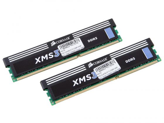 Оперативная память 8Gb (2x4Gb) PC3-12800 1600MHz DDR3 DIMM Corsair XMS3 9-9-9-24 CMX8GX3M2A1600C9 corsair xms3 cmx4gx3m1a1600c9 memory bank