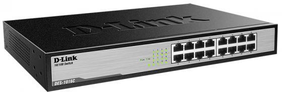 Коммутатор D-LINK DES-1016A/C неуправляемый 16 портов 10/100Mbps коммутатор zyxel gs1100 16 gs1100 16 eu0101f