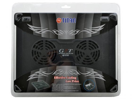 Подставка для ноутбука 15 Titan TTC-G7TZ  пластик 1500об/мин 19db черная теплоотводящая подставка для ноутбука titan ttc g22t