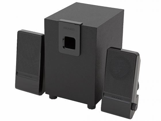 Колонки Microlab M100 5+2х2.5 Вт черный цена