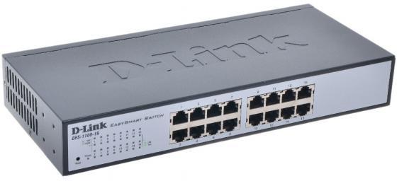 Коммутатор D-LINK DES-1100-16 управляемый 16 портов 10/100Mbps цены