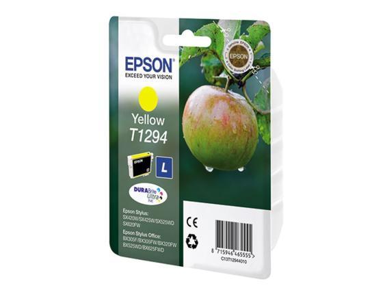 все цены на Картридж Epson C13T12944010 T1294 для SX420W BX305F Yellow Желтый онлайн
