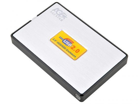 Внешний контейнер для HDD 2.5 SATA AgeStar SUB2A11 USB2.0 серебристый mobile rack agestar sr3p sw 3f sata black