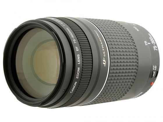 Объектив Canon EF 75-300 mm f/4-5.6 III USM 6472A012 объектив canon ef s is stm 1620c005 18 55мм f 4 5 6 черный