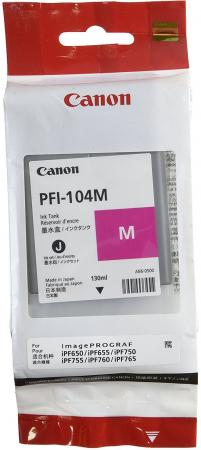 Картридж Canon PFI-104M пурпурный для Canon iPF650 655 750 755 130мл картридж canon pfi 104m пурпурный для canon ipf650 655 750 755 130мл