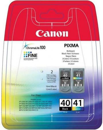 Набор картриджей Canon PG-40/CL-41 для PIXMA MP450/MP170/MP150/iP2200/iP1600/iP6220D/iP6210D/iP22 черный и цветной 330/310 страниц набор картриджей canon pg 510 cl 511 многоцветный черный [2970b010]