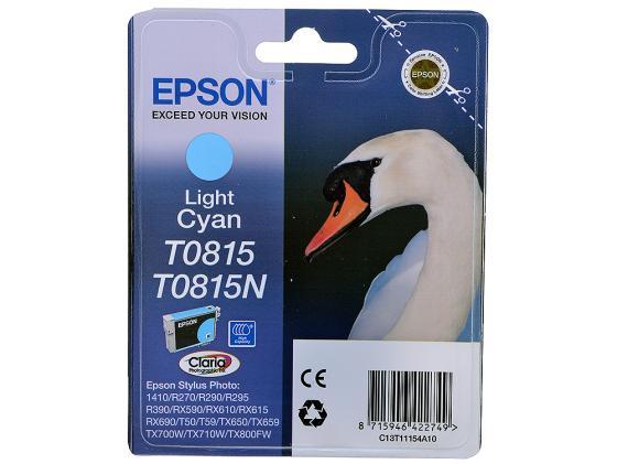 Картридж Epson C13T11154A10 T0815 для R270 290 RX590 светло-голубой 480стр цены онлайн