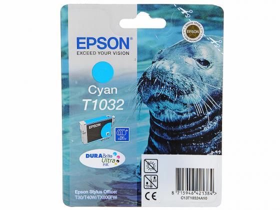 Картридж Epson C13T10324A10 для T30 T40W TX550W TX600FW голубой replacement refillable ink cartridges for epson st40w tx550w tx600fw