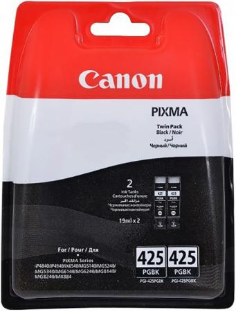 Картридж Canon PGI-425 PGBK TWIN для PIXMA iP4840 MG5140 MG5240 MG6140 MG8140 344стр черный двойная упаковка pgi425 pgi 425 cli 426 pgi 425 cli 426 compatible ink cartridges for canon pixma mg5240 5140 6140 8140 ip4840 mx884 ix6540 5pcs