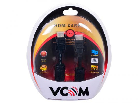 HDMI 1.8м VCOM Telecom v1.4-3D позолоченные контакты 2 фильтра VHD6020D-1.8MB Blister