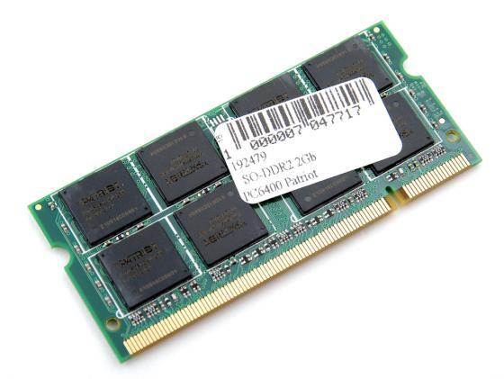 все цены на Оперативная память для ноутбуков SO-DDR2 2Gb PC6400 800MHz Patriot PSD22G8002S онлайн
