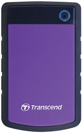 Внешний жесткий диск 2.5 USB3.0 1 Tb Transcend StoreJet 25H TS1TSJ25H3P черный/фиолетовый