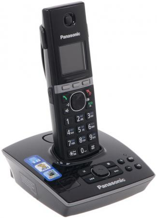 Радиотелефон DECT Panasonic KX-TG8061RUB черный радиотелефон panasonic kx tg8061rub