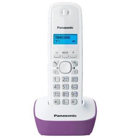 Радиотелефон DECT Panasonic KX-TG1611RUF фиолетовый телефон dect panasonic kx tg1611ruf