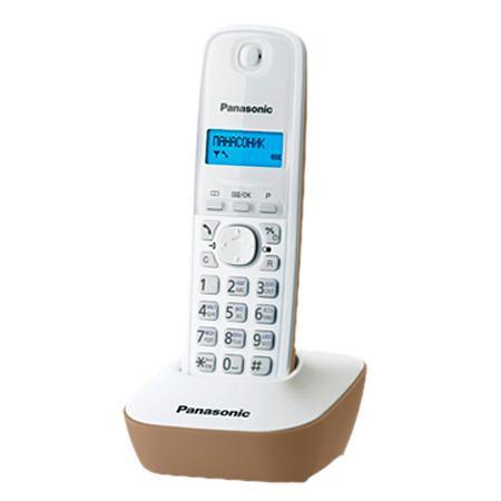 Радиотелефон DECT Panasonic KX-TG1611RUJ бежевый аппарат телефонный dect panasonic kx tg1611ruj бел беж