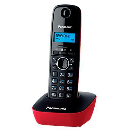 Радиотелефон DECT Panasonic KX-TG1611RUR красный panasonic kx tg1611rur red