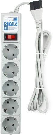 Сетевой фильтр Power Cube SPG-B-6EXT 5 розеток 1.9 м
