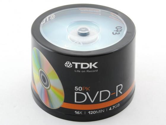 Диски DVD-R TDK 16x 4.7Gb CakeBox 50шт 19417