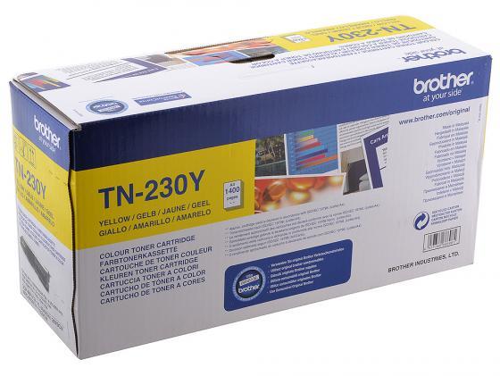 Картридж Brother TN-230Y для HL3040 DCP9010CN MFC9120CN желтый лазерный картридж brother tn 230c голубой для hl3040 dcp9010cn mfc9120cn