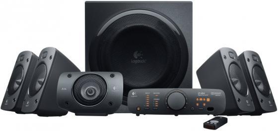 Колонки Logitech Z906 165+5х67 Вт черный беспроводной ПДУ встроенный декодеры Dolby Digital / DTS 980-000468