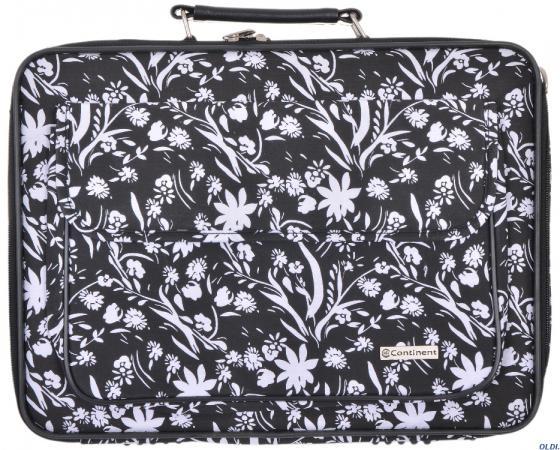 Сумка для ноутбука 15-16 Continent CC-03 White Flowers нейлон сумка для ноутбука 15 continent cc 101 black нейлон