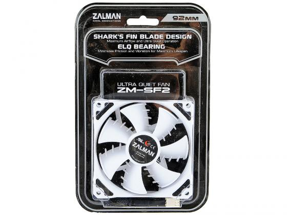Вентилятор Zalman ZM-SF2 92mm 1400-2000rpm SHARK'S BLADE zm f2 plus sf