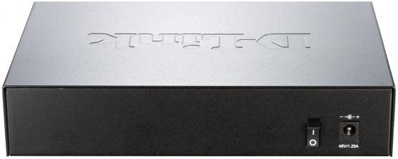 Коммутатор D-LINK DGS-1008P неуправляемый 8 портов 10/100/1000Mbps PoE коммутатор d link dgs 1008p c1a коммутатор чер