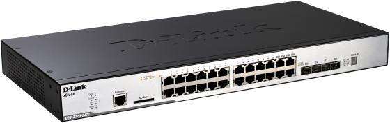Коммутатор D-LINK DGS-3120-24TC/B1ARI управляемый 2+ уровня 20 портов 10/100/1000GbLAN 4xCombo GbLAN/SFP коммутатор d link dgs 1500 20 dgs 1500 20