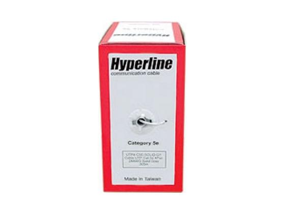 Кабель UTP indoor 4 пары категория 5e Hyperline UUTP4-C5E-S24-IN-PVC-GY-305 одножильный 24AWG серый 305м цена и фото