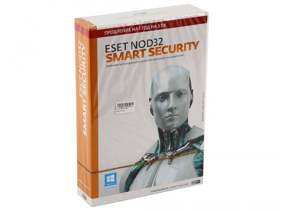 Антивирус ESET NOD32 Smart Security продление лицензии на 12 мес на 3ПК коробка NOD32-ESS-RN-BOX3-1-1