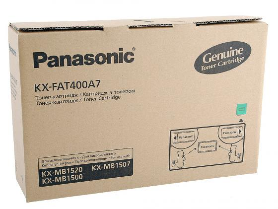 Тонер-картридж Panasonic KX-FAT400A7 для KX-MB1500RU KX-MB1520RU 1800стр. лазерный картридж kx fat88a для panasonic kx fl403 fl423 и flc413 flc418 тонер туба