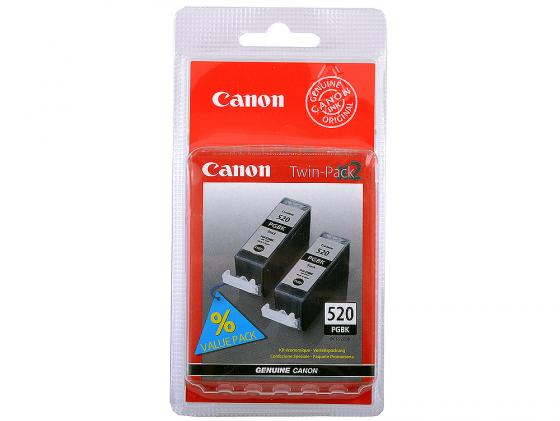Картридж Canon PGI-520BK TWIN для PIXMA iP3600 iP4600 MP540 MP620 MP630 MP980 черный двойная упаковка картридж струйный canon pgi 520bk черный для canon ip3600 4600 mp540 620 630 980