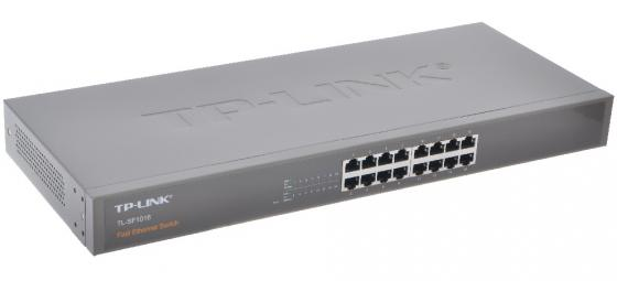 Коммутатор TP-LINK TL-SF1016 16-ports 10/100Mbps коммутатор tp link tl sf1005d 5 port 10 100m mini desktop switch 5 10 100m rj45 ports plastic case